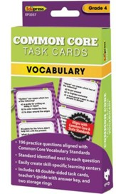 Common Core Vocabulary Task Cards, Grade 4