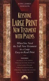 KJV Large-Print New Testament with Psalms, Imitation Leather, Black