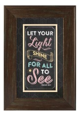 Let Your Light Shine Wall Art