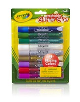 Crayola, Washable Glitter Glue, Bold, 9 Pieces