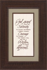Serenity Prayer Framed Print