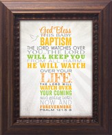 God Bless This Baby Baptism Framed Art
