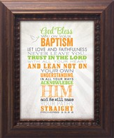 God Bless You On Your Baptism Framed Art