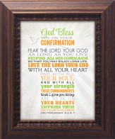 God Bless You On Your Confirmation Framed Art