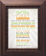 God Bless You On Your First Communion Framed Art