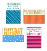 Thinking of You Birthday Cards, Large Print, Box of 12