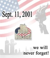 Never Forget September 11, 2001 Lapel Pin