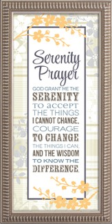 Serenely Prayer Framed Art