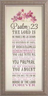 Psalm 23, The Lord Is My Shepherd Framed Art