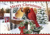 Cardinal Song Deluxe Box Christmas Cards, Box of 20