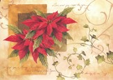 Poinsettia And Ivy Deluxe Box Christmas Cards, Box of 20