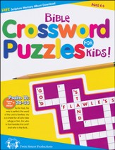 Bible Crossword Puzzles for Kids Puzzle Book