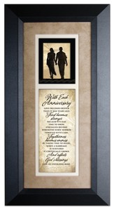With Each Anniversary Framed Art
