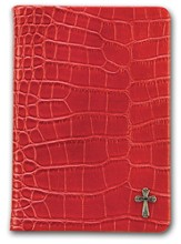 Red Scripture Journal with Cross