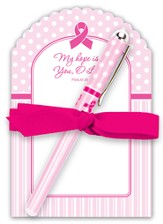 Pink Ribbon Notepad Gift Set