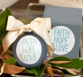 Faith Hope Love Circle Ornament