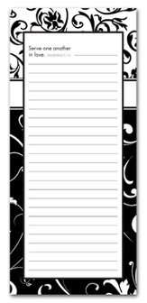 Serve One Another in Love Magnetic Notepad, Large
