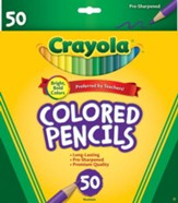 Crayola, Colored Pencils, Long, 50 Pieces