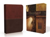 NKJV Chronological Study Bible--soft leather-look, earth brown/auburn