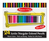 Jumbo Triangular Colored Pencils, Set of 24