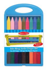 Take-Along Jumbo Crayon Set, 18 Piece