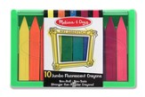 Jumbo Fluorescent Crayon Set, 10 Piece