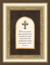 Jewel Cross Framed Art, Philippians 4:6