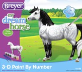 3-D Paint By Number, Dapple Grey Horse
