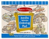 Vehicles, Jumbo Coloring Pad
