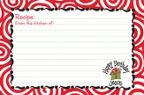Happy Birthday Jesus Recipe Cards