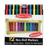 Non-Roll, Triangular Cap Markers, Set of 12