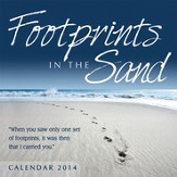 2014 Mini Wall Calendar, Footprints in the Sand