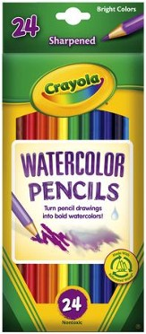 Crayola, Watercolor Pencils, 24 Pieces