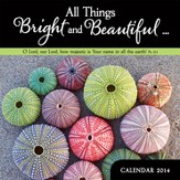 2014 Mini Wall Calendar, All Things Bright and Beautiful