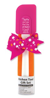 Taste and See Kitchen Tool Gift Set, Pink and Orange