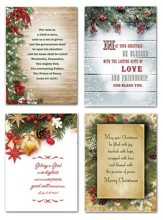 Pine and Holly, Christmas Cards, Box of 12