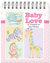 Baby Love Easel Book, 101 Thoughts for New Parents, Girl