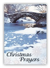 Snowy Bridge, Foil Christmas Cards, Box of 12