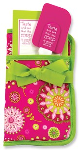 Taste and See Potholder Gift Set, Pink and Green
