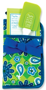 Taste and See Potholder Gift Set, Blue and Green
