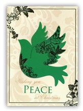 Peace, Handmade Christmas Cards with Dove, Box of 12