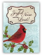 Peace, Love, Joy, Handmade Christmas Cards with Cardinal, Box of 12