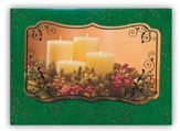 Candles, Handmade Christmas Cards, Box of 12