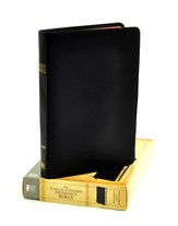 NIV Single-Column Reference Bible, Premium Leather, Ebony
