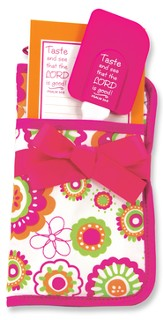Taste and See Potholder Gift Set, Pink and Orange