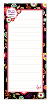 My Soul Finds Rest In God Alone Magnetic Notepad