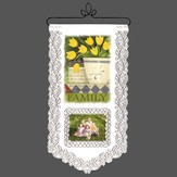 Family, Faithfulness Continues, Lace Wall Hanging