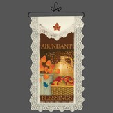 Abundant Blessings, Lace Wall Hanging