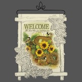 Welcome, The Lord Bless You, Lace Wall Hanging