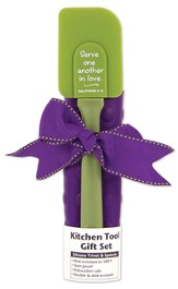 Kitchen Tool Set, Serve One Another, Green/Purple